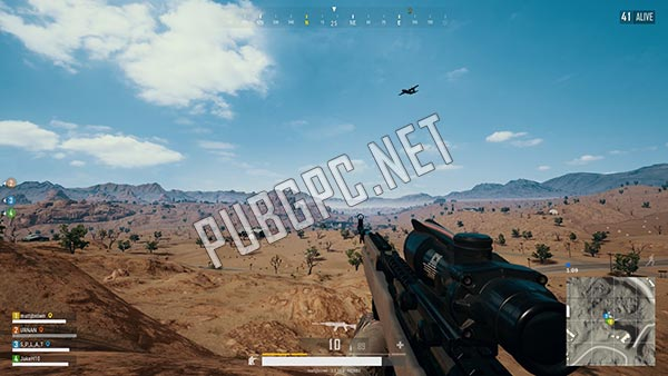 Shooting enemies over rough terrains in PUBG PC