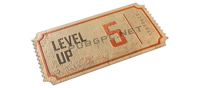 5 Level Up's Ticket in PUBG Game Via The Secret Mission Event