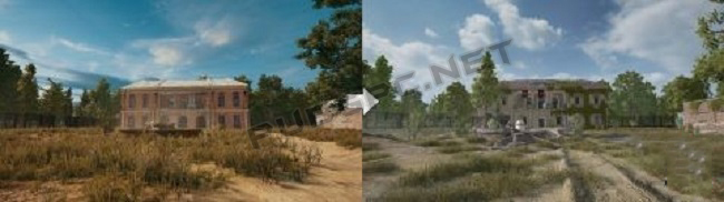 The Before And Now Images Of Mansion In PUBG PC
