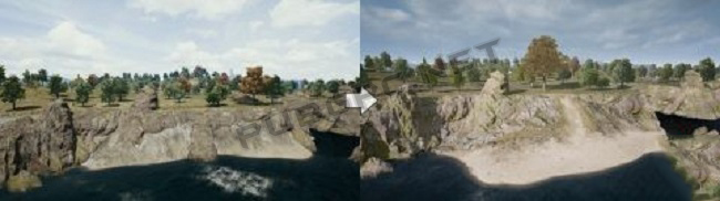 The Before And Now Images Of Terrain In PUBG PC