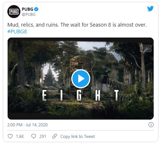 The snippet has been posted on the official PUBG Twitter