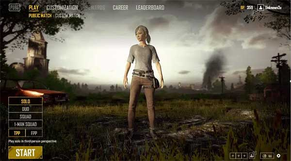 Screen and the features of PUBG