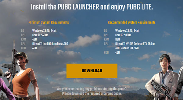 The first step to download PUBG Lite for PC is to visit the official website.