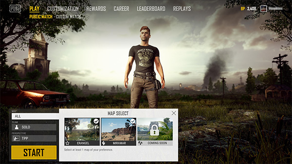 All the maps on PUBG Lite that you can select to play.