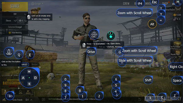 Like other emulators, you can also control customization options in Tencent Gaming Buddy.